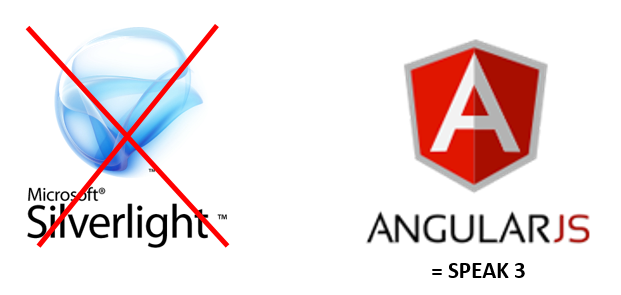 Silverlight gone, hello AngularJS